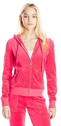 Juicy Couture Black Label Women's J Bling Orig Velour Jacket $128 thestylecure.com