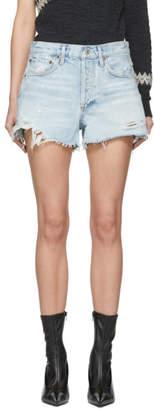 A Gold E Agolde AGOLDE Blue Denim Parker Shorts