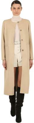 Yves Salomon Reversible Leather & Suede Coat