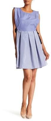 Bobeau Poplin Tie Side Dress