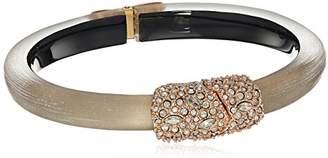 Alexis Bittar Crystal Encrusted Clasp Skinny Hinge Bracelet