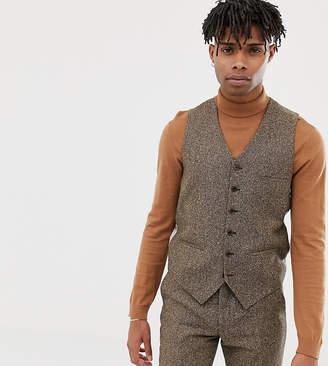 Heart & Dagger slim vest in camel wool