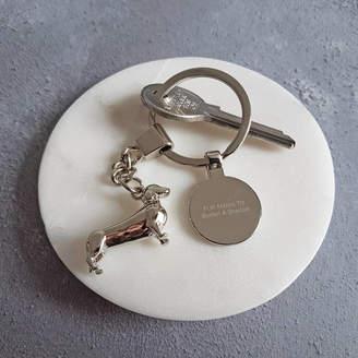 We Love To Create Personalised Dog Keyring Dachshund
