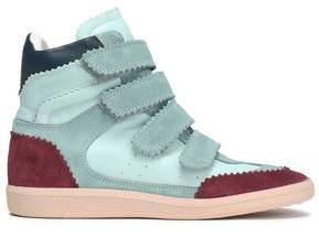Isabel Marant Color-block Leather And Suede High-top Sneakers