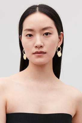 Cos GOLD-PLATED DROP EARRINGS