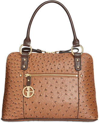 Giani Bernini Ostrich-Embossed Dome Satchel