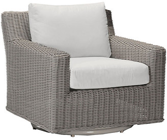 Summer Classics Inc Rustic Oyster Swivel Club Chair - White - SUMMER CLASSICS INC