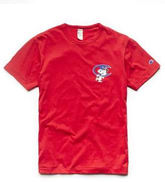 Todd Snyder Peanuts x Champion by Champion X Peanuts Short Sleeve Snoopy C Graphic T-Shirt in Red