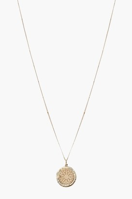 boohoo Coin Detail Pendant Necklace