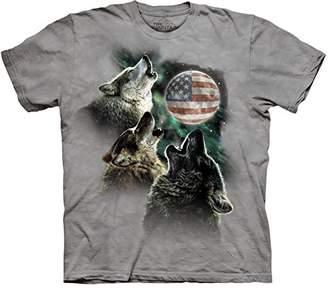 The Mountain Three Wolf Moon Short Sleeve Tee