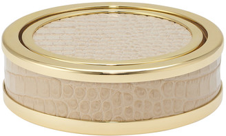 AERIN Colette Croc Leather Coaster