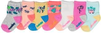Osh Kosh Oshkosh Bgosh Baby / Toddler Girl 7-pack Tropical Days of the Week Crew Socks