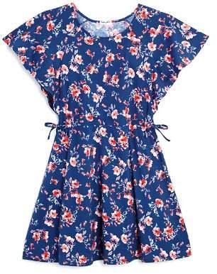 Splendid Girls' Floral Flutter-Sleeve Dress - Little Kid