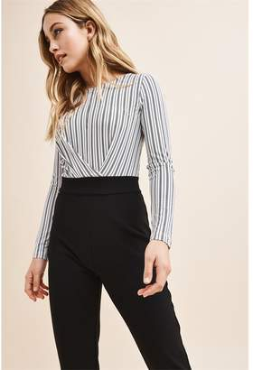 493b74ee50ba Dynamite Stripe Top Jumpsuit Black   White Stripes