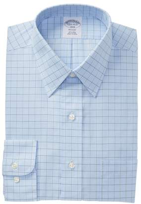 Brooks Brothers Check Regent Modern Trim Fit Dress Shirt