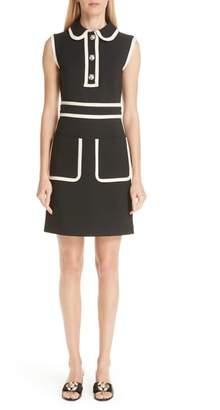Gucci Tiger Button Contrast Trim Dress