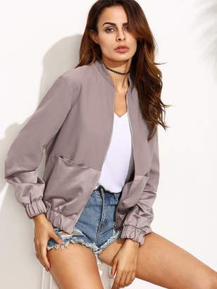 Shein Color Block Panel Bomber Jacket