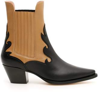 Alberta Ferretti Pointed Slip-On Ankle Boots