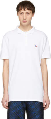 MAISON KITSUNÉ White Tricolor Fox Patch Polo