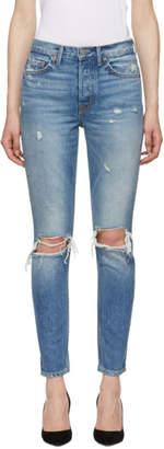 GRLFRND Blue Karolina Skinny Jeans