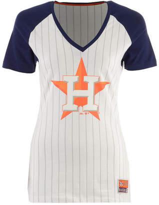 Majestic Women's Houston Astros Every Aspect Pinstripe T-Shirt