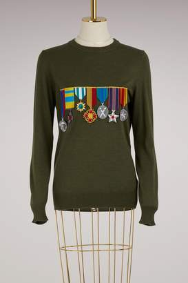 Stella Jean Virgin wool medal sweater