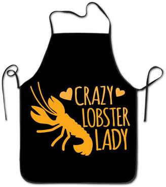 KMEll Apron Crazy Lobster Lady Chef Kitchen Cooking And Baking Bib Apron