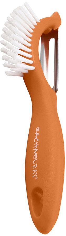 Rachael Ray 3-In-1 Vegetable Peeler, Picker & Brush Orange Veg-A-Peel
