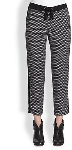 Splendid Harbor Cropped Geometric-Print Track Pants
