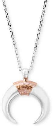 Effy Men's Horn Pendant Necklace in Sterling Silver & 14k Rose Gold