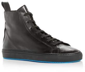 Uri Minkoff Men's Elijah Leather High-Top Sneakers