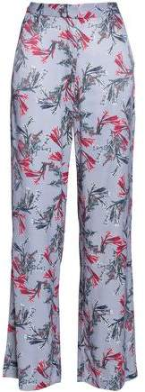 House Of Vienna Floral-Print Crepe Wide-Leg Pants