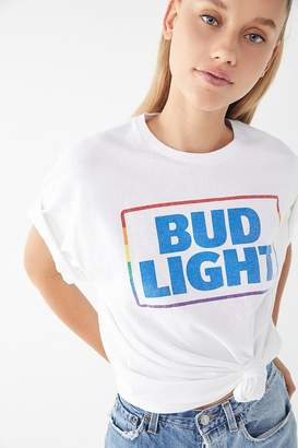 Junk Food Clothing Rainbow Bud Light Tee