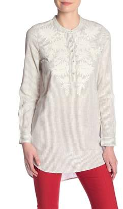 French Connection Armona Embroidered Stripe Tunic