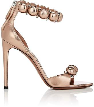 Alaia Women's Metallic Leather Ankle-Strap Sandals