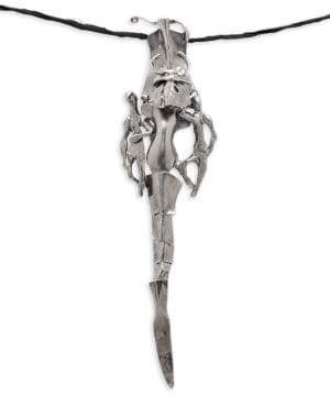 Valentino Intricate Metallic Pendant Necklace