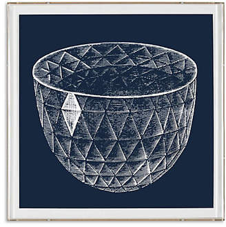 Dacor Natural Curiosities Framed Faceted Diamond Bowl Print