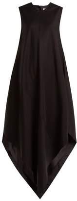 Raey Asymmetric Hem Maxi Dress - Womens - Black