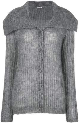 Miu Miu oversized collar cardigan