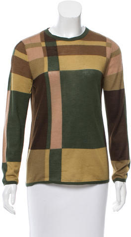 prada Prada Cashmere Plaid Sweater