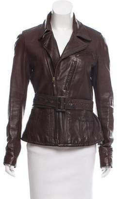 Ralph Lauren Leather Long Sleeve Jacket