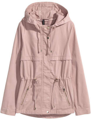 H&M Short Parka with Hood - Pink