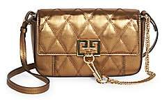 Givenchy Women's Mini Pocket Convertible Quilted Metallic Leather Belt Bag