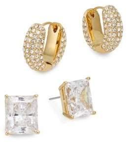 Adriana Orsini Glitz Stud & Huggie Earring Gift Box Set/Goldtone