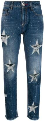 Philipp Plein stars boyfriend jeans