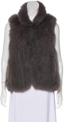 Theory Knit Fur Vest