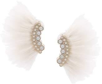 Mignonne Gavigan feather embellished earrings