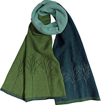 Janie Knitted Textiles Sprig Tree Block Wool Scarf