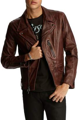 John Varvatos John Vavatos Star Usa Nubuck Leather Moto Jacket