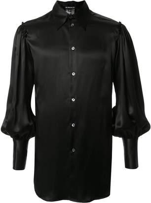 Ann Demeulemeester balloon sleeved silk shirt